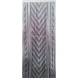 """Rideau de porte """"chevron gris"""""""