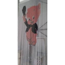 """Rideau de porte """"Petit cochon"""""""