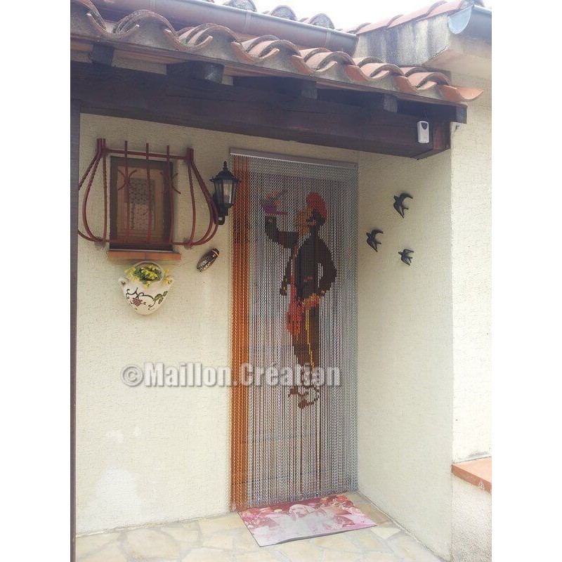 "Door curtain ""Catalan silver background"""