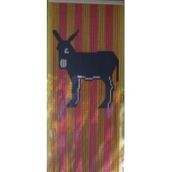 "Door curtain ""Catalan donkey"""