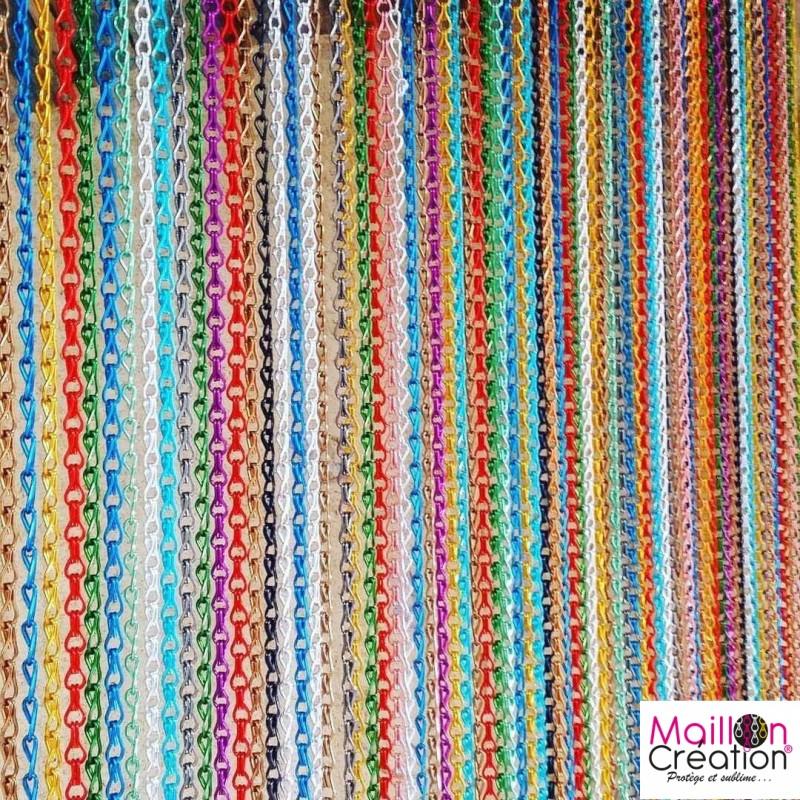 Rideaux de porte anti-mouches sur mesure multicolore