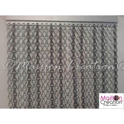 Custom two-tone door curtains