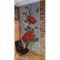 "Door curtain ""Pavot Picasso"""