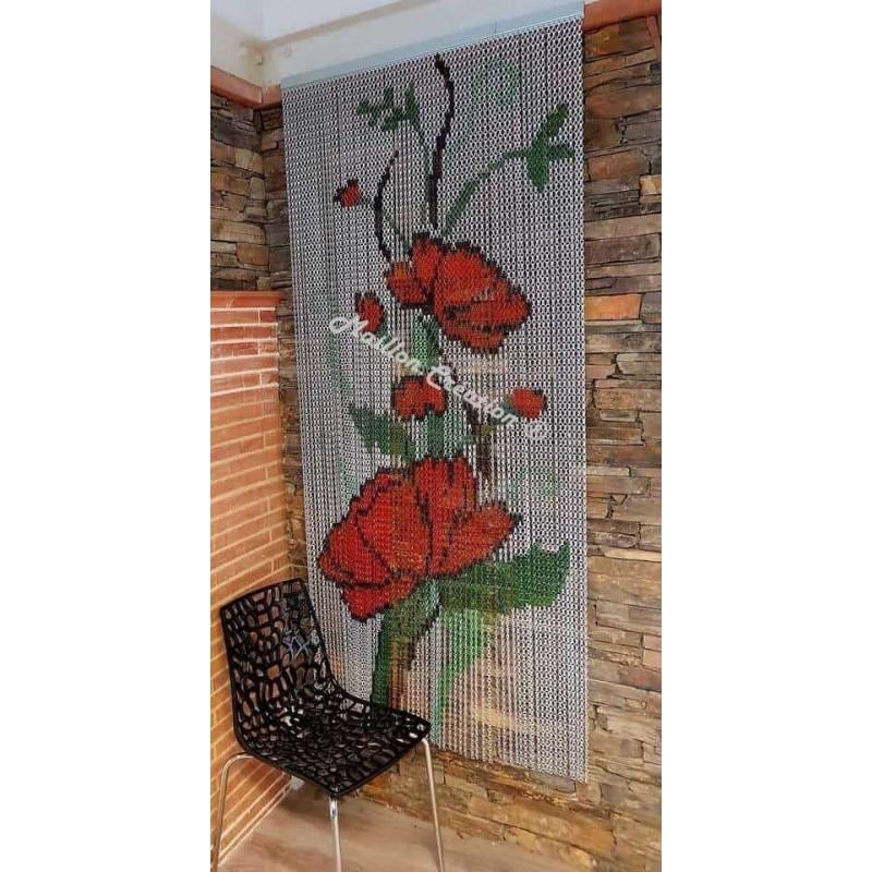 """Door curtain """"Pavot Picasso"""""""