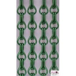 dark green door curtain
