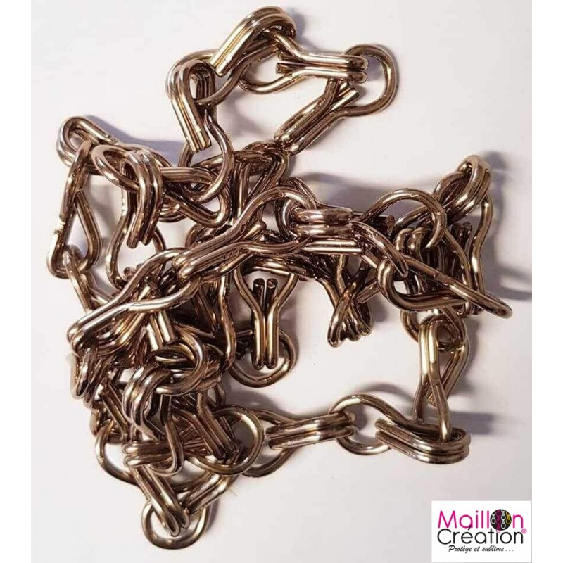 Chain by the meter glossy brown color for door curtain