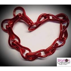 Échantillon rideau de porte chaîne métal rouge