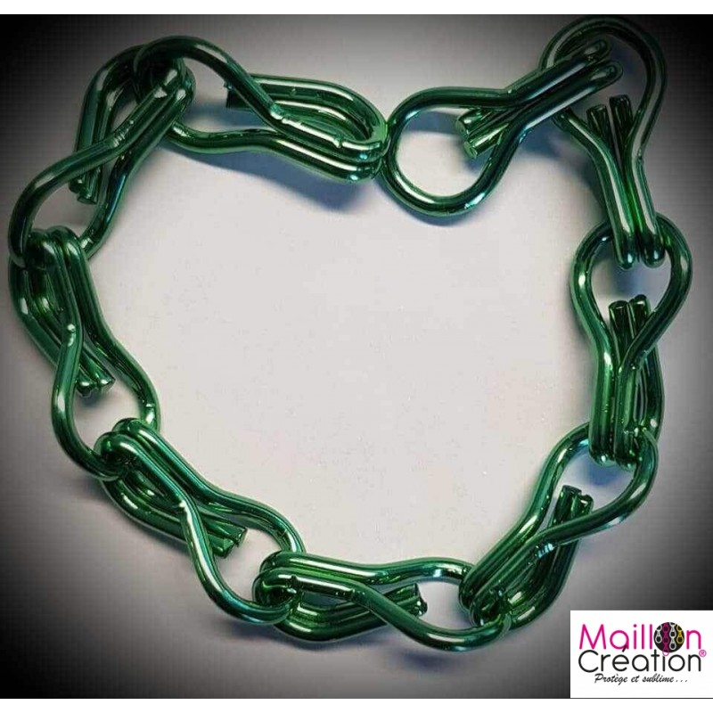 Échantillon rideau chaîne métal vert foncé pour rideau de porte