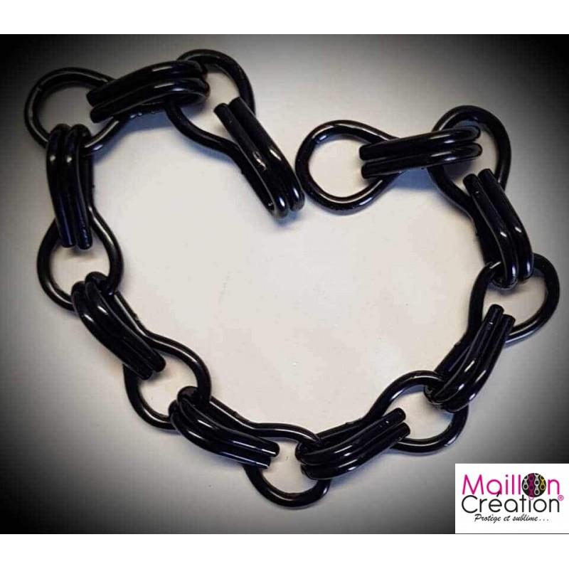 Échantillon rideau chaîne métal noir pour rideau de porte