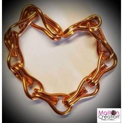 Échantillon rideau de porte chaîne métal orange