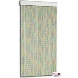 Multicolored plastic door curtain