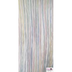Rideau de porte extérieur en plastique multicolore
