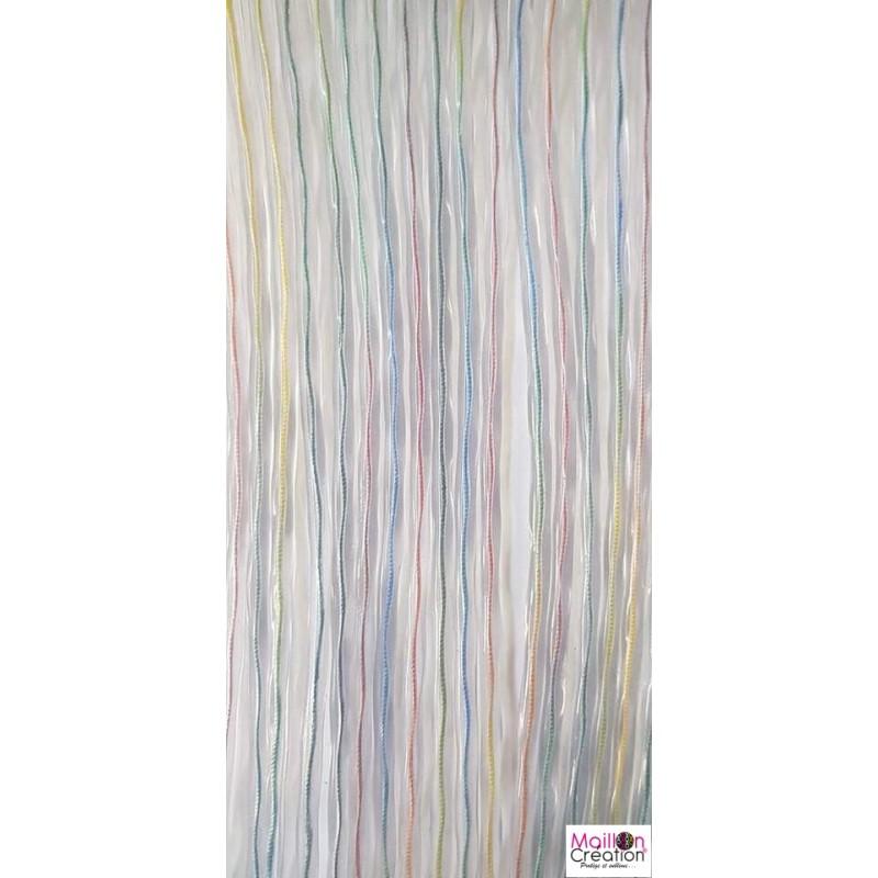 Multicolor plastic exterior door curtain