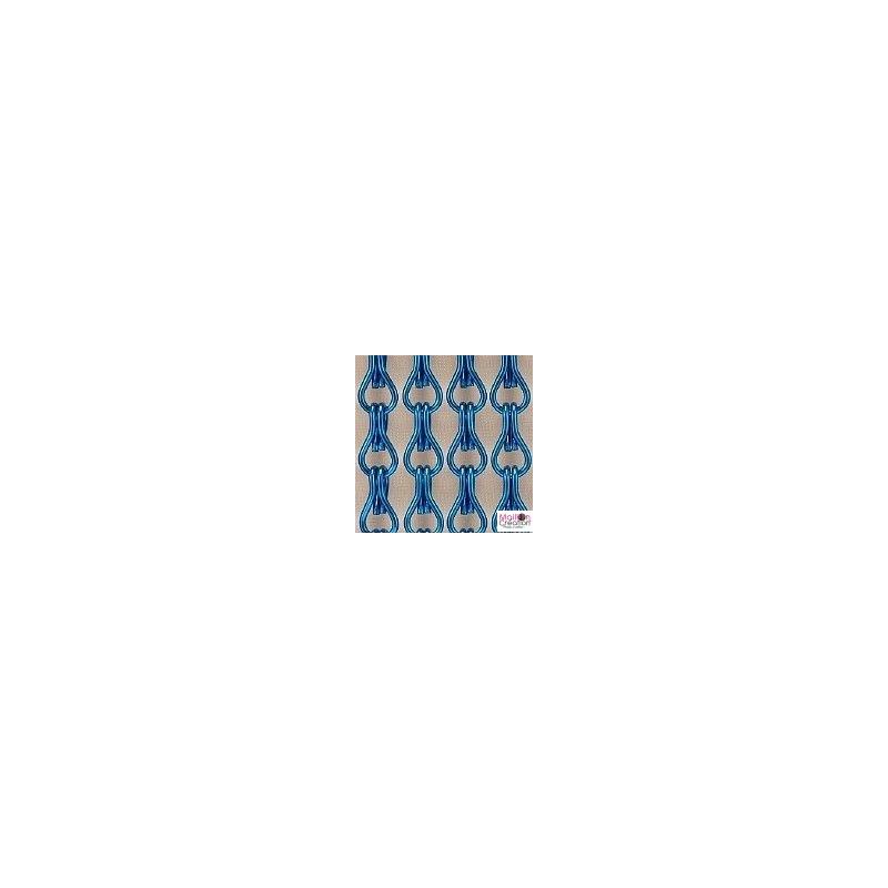 Rideau de porte en chaîne bleu