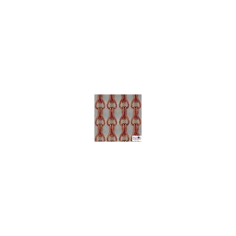rideau porte extérieur marron