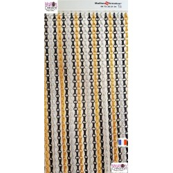 Curtain chain yellow, black, silver