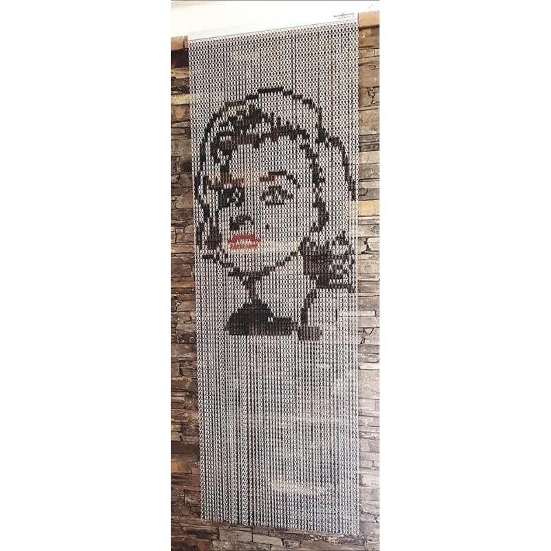 rideau de porte en chaînette d'aluminium