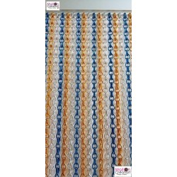 "Chain curtain ""silver, blue, yellow"""