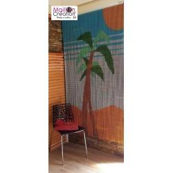 Rideau de porte en chaînette aluminium modèle palmier