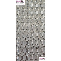 Silver aluminum chain door curtain