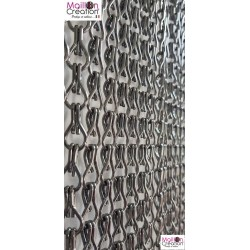 Gray door curtain