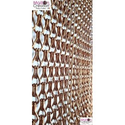 brown aluminum chain door curtain