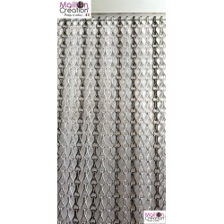 Silver & gray door curtain