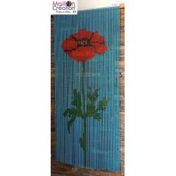 curtain chain aluminum poppies design