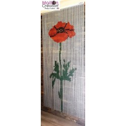 "Door curtain ""Poppy design"""