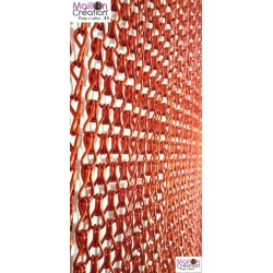 Red aluminum chain curtain
