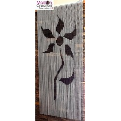 door curtain in aluminum chain model flower design