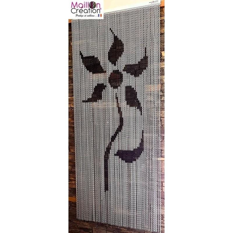 door curtain in aluminum chain model flower design