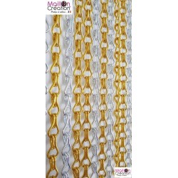 Yellow and silver SERENITY curtain