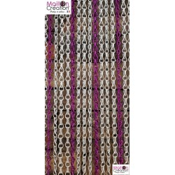 Rideau de porte en chainette argent et violet