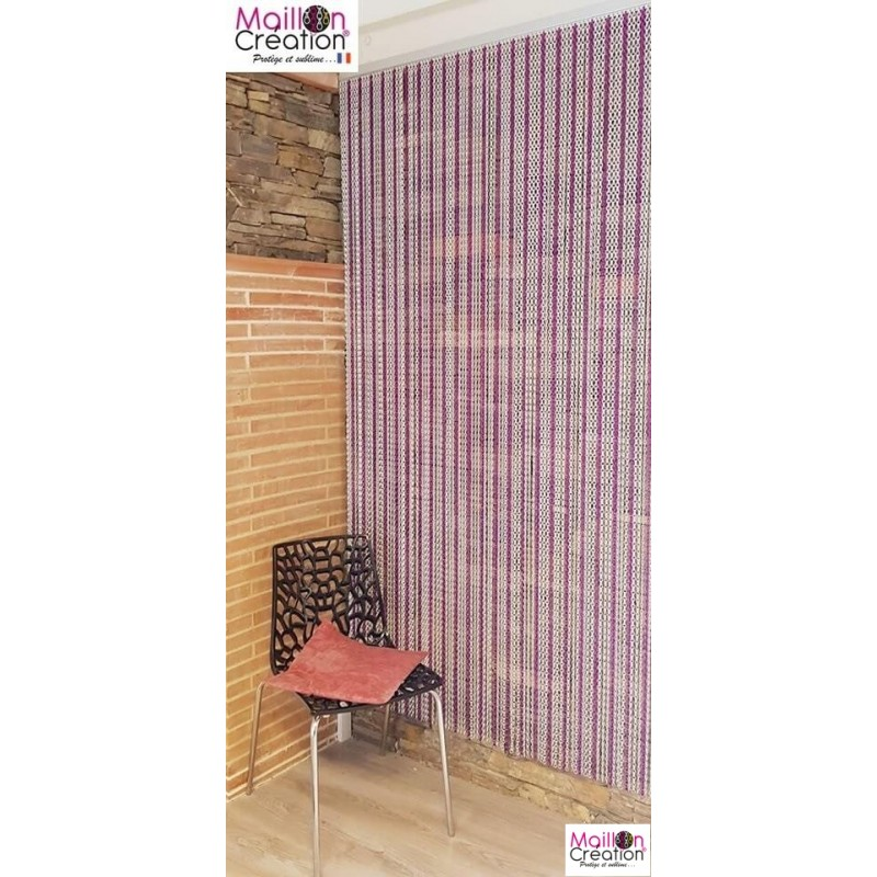 "Silver and purple"" chain door curtain"