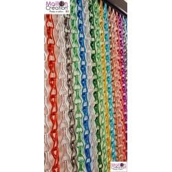 rideau de porte en chaîne aluminium multicolore sur mesure