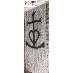 Rideau chainette croix camarguaise