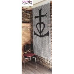 Rideau en chaine aluminium croix Camarguaise