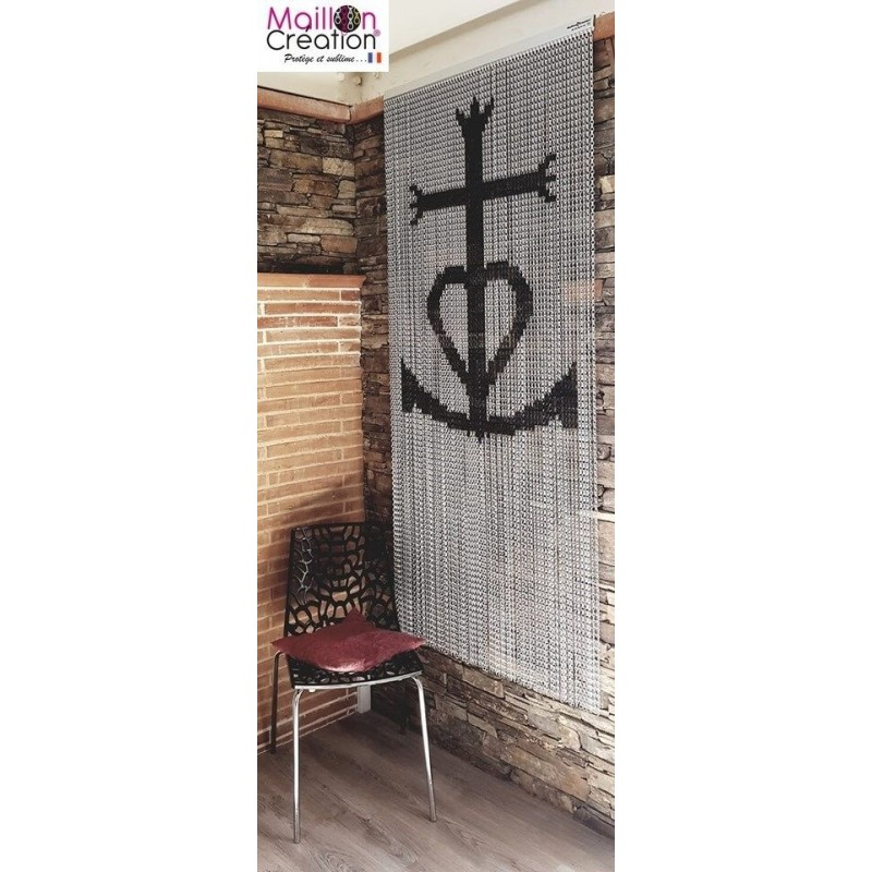 "Door curtain chain ""Cross Camarguaise"""