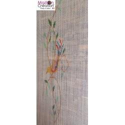 rideau de porte extérieur anti moustiques en chaine alu
