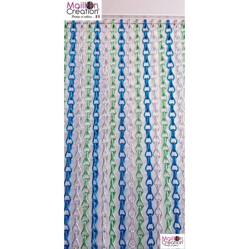"""Door curtain """"silver, green anise, blue"""" - 1"""