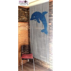 """Dauphin"" door curtain"