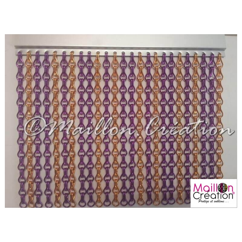 Purple & orange door curtain