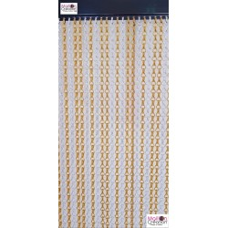 "Chain curtain ""yellow & silver"" - 2"
