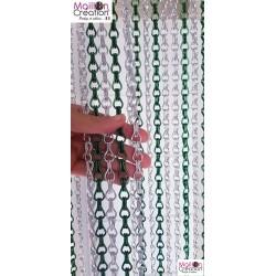 Aluminum chain door curtain