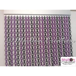 Purple & black door curtain