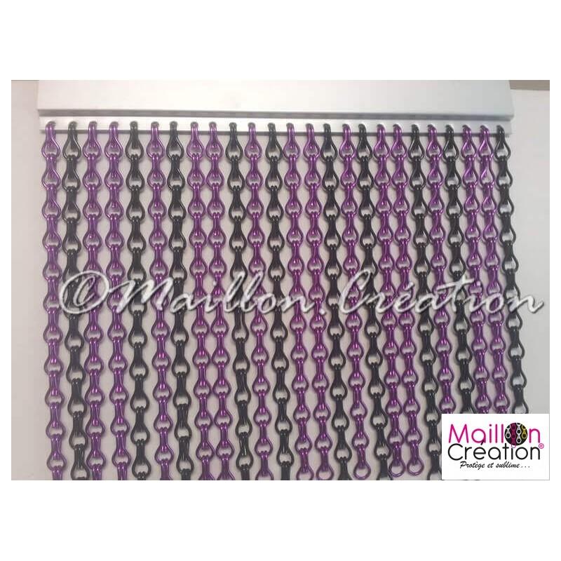 Rideau de porte violet et noir