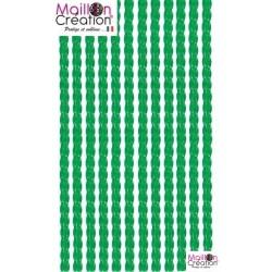 rideau plastique transparent vert