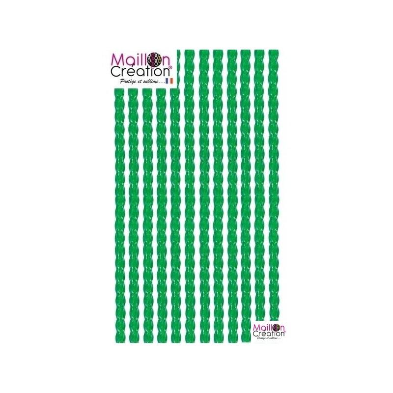 rideau de porte plastique transparent vert