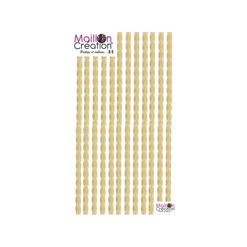 rideau de porte plastique beige